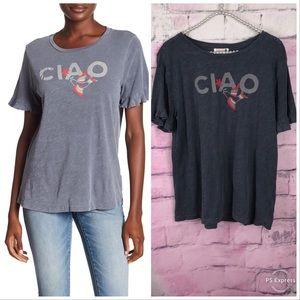 Sundry women's Ciao t-shirt soft gray size 1